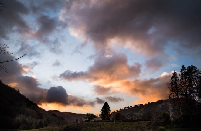 glendalough-sunset
